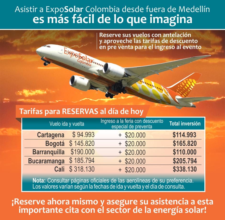 Tarifas vuelos ABRIL23